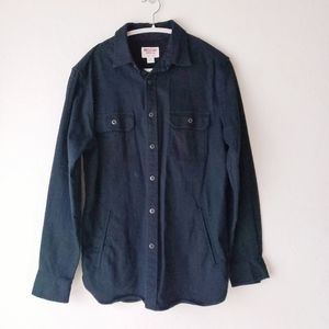 90's Mossimo Canvas Button Down Jacket Black